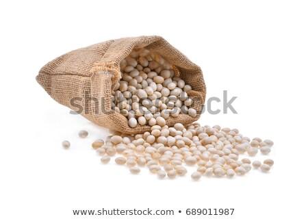 Secado frijoles blanco tazón dieta saludable Foto stock © raphotos
