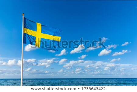 sweden flag on blue sky stock photo © 5xinc