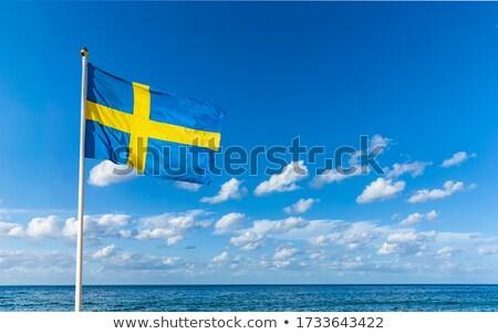 Sweden flag on blue sky Stock photo © 5xinc