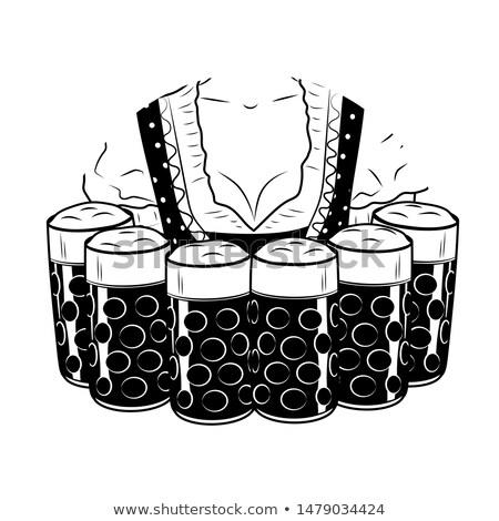 オクトーバーフェスト · 少女 · ウエートレス · トレイ · ビール · ベクトル - ストックフォト © orensila