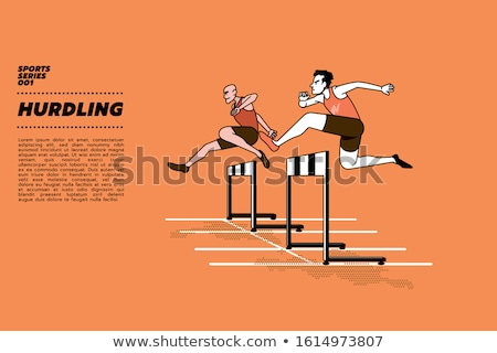 трава · спортивных · красный · стадион · Легкая · атлетика · прыжок - Сток-фото © njnightsky