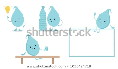 lamp character is sitting and thinking Stock photo © TaiChesco