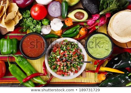 traditioneel · Mexicaanse · twee · kalk · half · avocado - stockfoto © tanya_ivanchuk