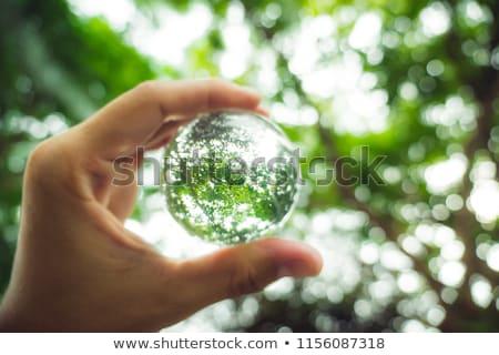 kristály · Föld · kék · mutat · Európa · Afrika - stock fotó © tilo