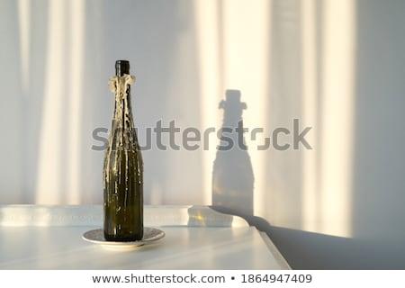 Luz de velas velho parede branco vela resistiu Foto stock © olandsfokus