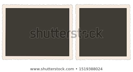 Polaroid photo frame construção fundo quadro branco Foto stock © lindwa