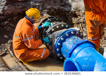 Repair of water pipes Stock photo © smuki