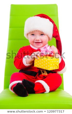 小 · 少年 · 赤 · 帽子 · クリスマス - ストックフォト © peterpolak