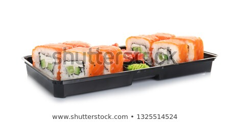 Stock photo: Japanese meal sushi set in a box