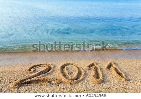 2011 piasku rok napisany pisać wakacje Zdjęcia stock © bayberry