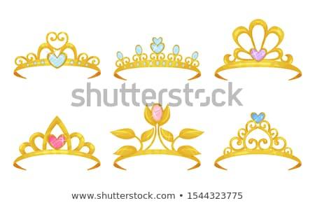 Pretty diamond princess diadem, vector illustration Stock photo © carodi