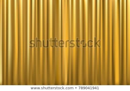 gold curtain texture stock photo © yanukit