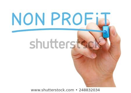 eficaz · apoiar · azul · marcador · mão · escrita - foto stock © ivelin