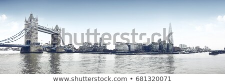 New London city hall at night , panoramic view from Tower Bridge Stock photo © Julietphotography