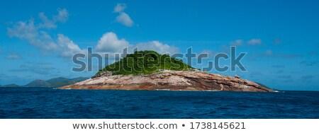 Stock photo: uninhabited Seychelles island - view from the sea