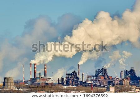 nubes · signo · azul · industria · energía · químicos - foto stock © studiostoks