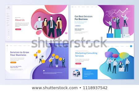 Website design sjabloon menu communie faq registratie Stockfoto © HelenStock