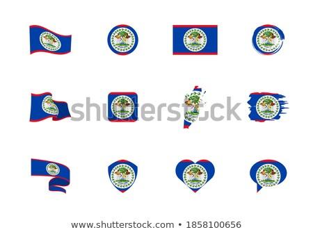 Szív alakú ikon zászló Belize izolált Stock fotó © MikhailMishchenko