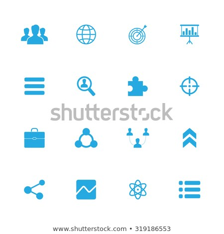 Stock photo: Mobile News on Blue Puzzle.