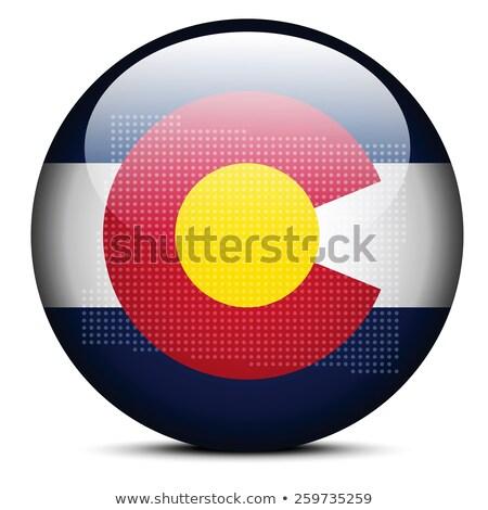 kaart · patroon · vlag · knop · USA - stockfoto © istanbul2009