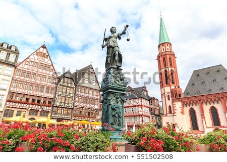 Frankfurt Duitsland dame justitie sculptuur vierkante Stockfoto © meinzahn
