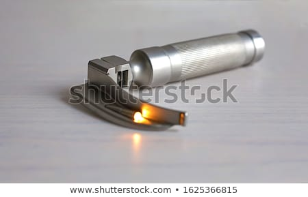 Laryngoscope with curved blade Stock photo © Pruser