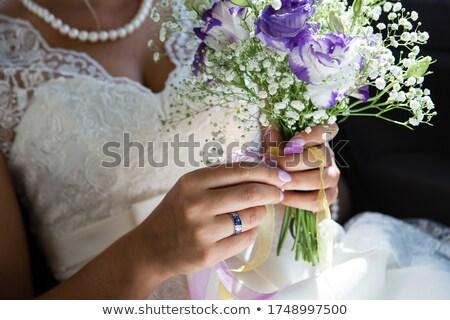 wedding dress close up  stock photo © nuiiko