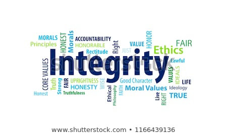 Business ethics word cloud Stock photo © tang90246
