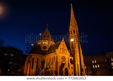 The Inner City Calvinist Church of Budapest Stock photo © AndreyKr