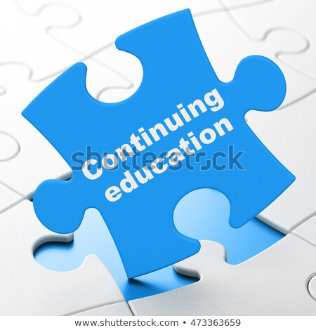 Coaching - Word on Blue Puzzles. Stock photo © tashatuvango