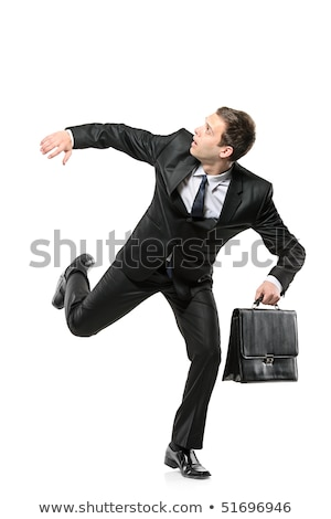 business man running away stock photo © fuzzbones0