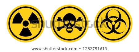 Promieniowanie hazard ilustracja podpisania czaszki oleju Zdjęcia stock © adrenalina