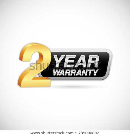 año · garantía · dorado · vector · icono · diseno - foto stock © rizwanali3d