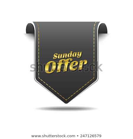 Sunday Offer golden Vector Icon Design Stock photo © rizwanali3d