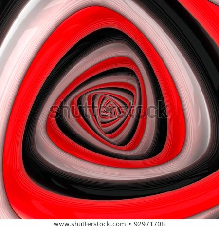 Boucle spirale concentrique blanc noir Pack Photo stock © Melvin07