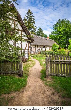 Old wooden house in Kluki, Poland Stock photo © Mariusz_Prusaczyk