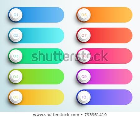 vector of capsules in strip stock photo © morphart