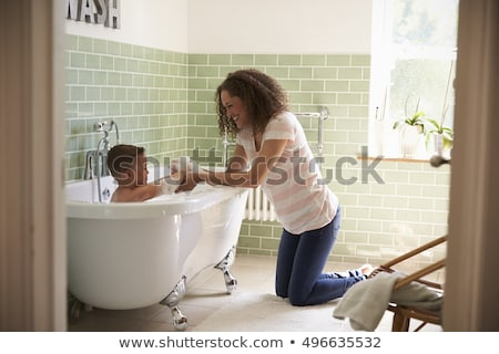 banyo · zaman · güzel · labrador · retriever · içinde - stok fotoğraf © paha_l