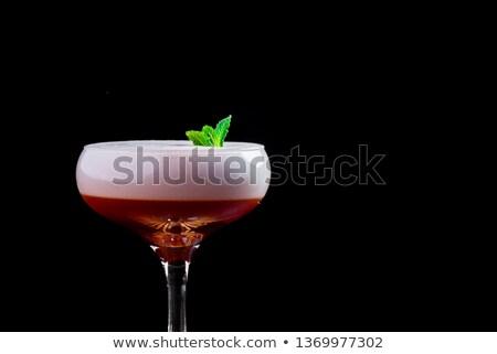розовый · космополитический · коктейли · изолированный · черный · продовольствие - Сток-фото © netkov1