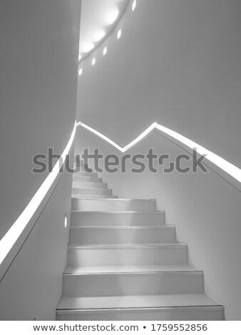 estreito · branco · escada · escada · casa · parede - foto stock © Paha_L