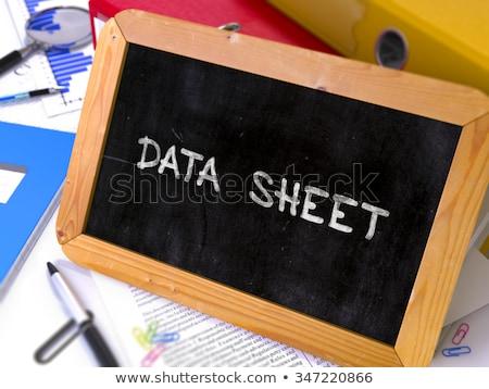fornecedor · quadro-negro · pequeno · trabalhando · tabela - foto stock © tashatuvango