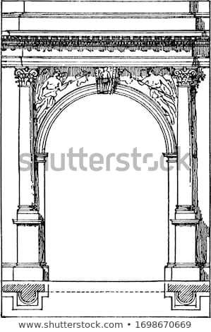ローマ メーソンリー ヴィンテージ 彫刻 刻ま 実例 ストックフォト © Morphart