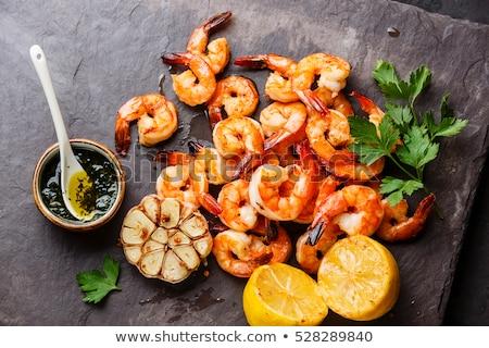 shrimp with lemon close up Stock photo © shutswis