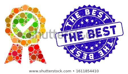 supreme quality blue seal vector icon stock photo © rizwanali3d