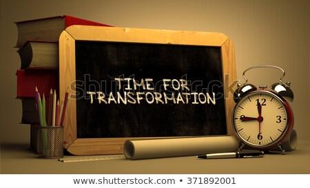 hand drawn time for transformation concept on chalkboard stock photo © tashatuvango