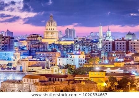 Hawana miasta Kuba krajobraz ulicy Zdjęcia stock © Klinker
