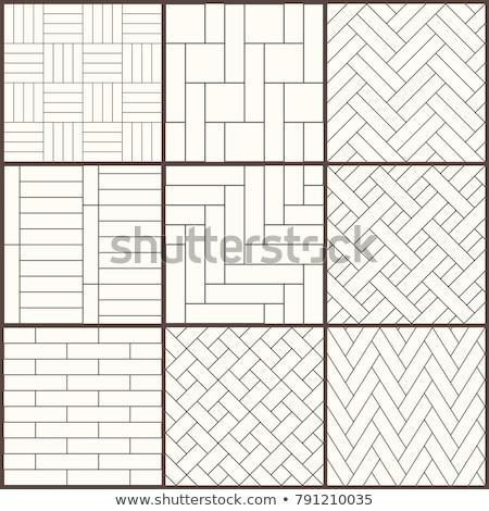 White Herringbone Parquet Floor Seamless Pattern Stock photo © Voysla