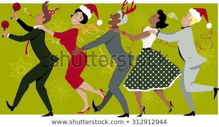 Karácsony retro eps vektor akta csillag Stock fotó © beholdereye