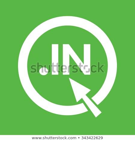 Индия домен точка знак икона иллюстрация Сток-фото © kiddaikiddee