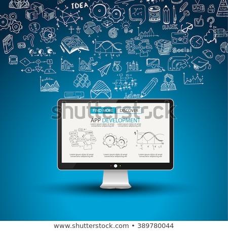 App Development Concept Background with Doodle design style :user interfaces, Stock photo © DavidArts